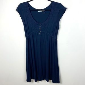 Urban Outfitters Blue Babydoll Dress Cap Sleeve M